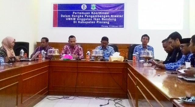 BANK INDONESIA KOORDINASIKAN  PENGEMBANGAN KLASTER UMKM UNGGULAN BANDENG KEPADA PENYULUH DAN PELAKU UTAMA DI KABUPATEN PINRANG