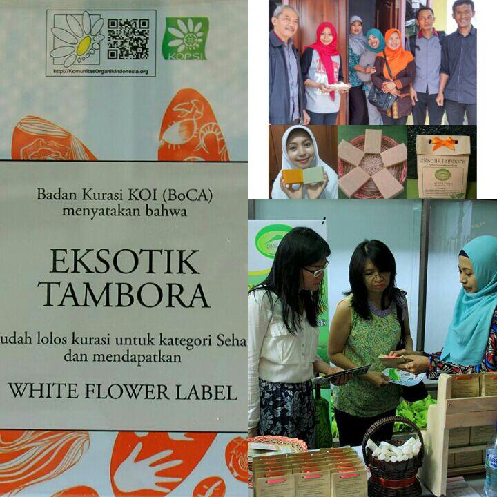 KELOMPOK EKSOTIC TAMBORA KABUPATEN DOMPU BERPARTISIPASI PADA ORGANIC GREEN AND HEALTH  EXPO  OF INDONESIA TAHUN 2016